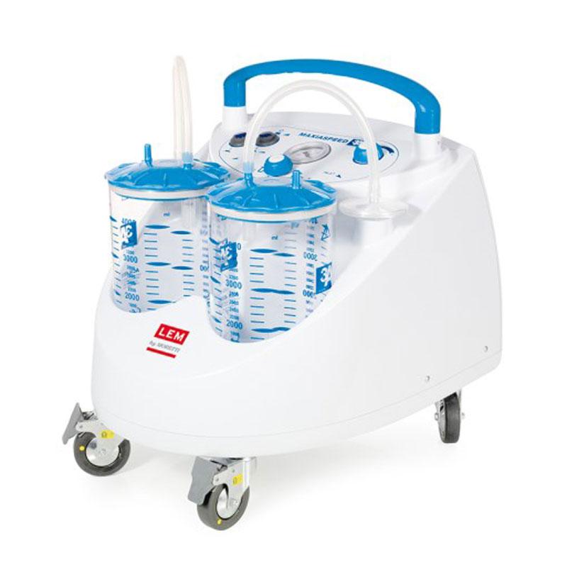 Aspiratore Chirurgico Carrellato 90L/min - ASPIMED 4.2 - 2 Litri - con comando a pedale