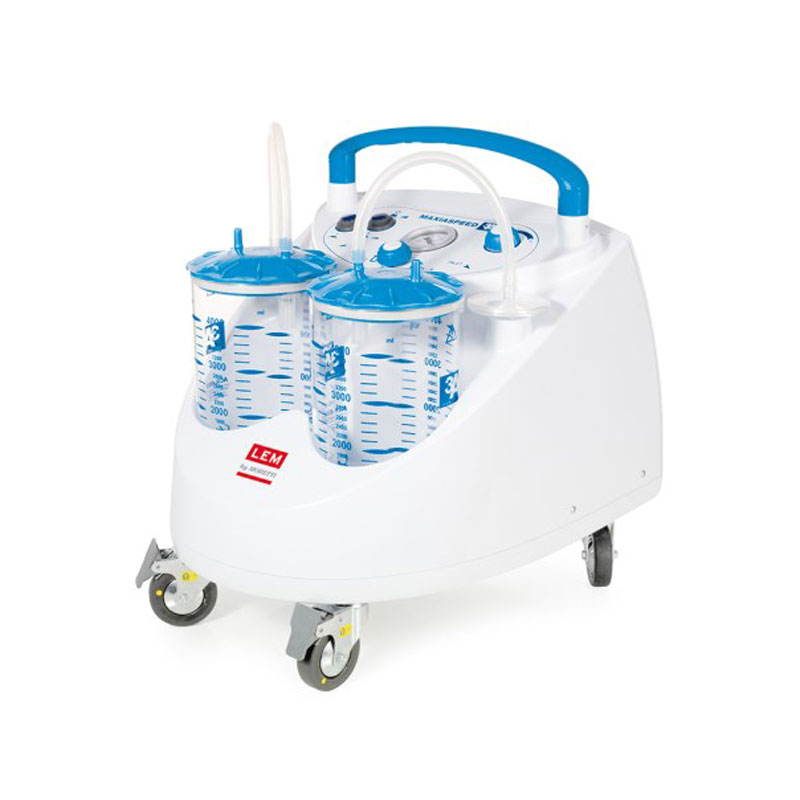 Aspiratore Chirurgico Carrellato 90L/min - ASPIMED 4.2 - 4 Litri - con comando a pedale