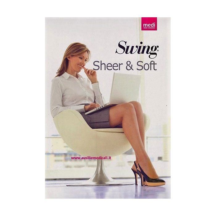 Autoreggenti Swing Sheer & Soft Medi 70 Denari 14mmHg