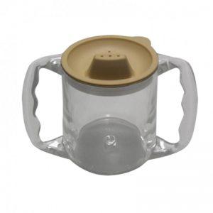 Bicchiere con manici ergonomici e beccuccio