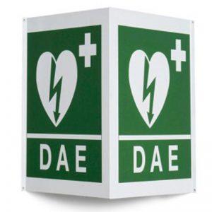Cartello da Muro per Defibrillatore bifacciale