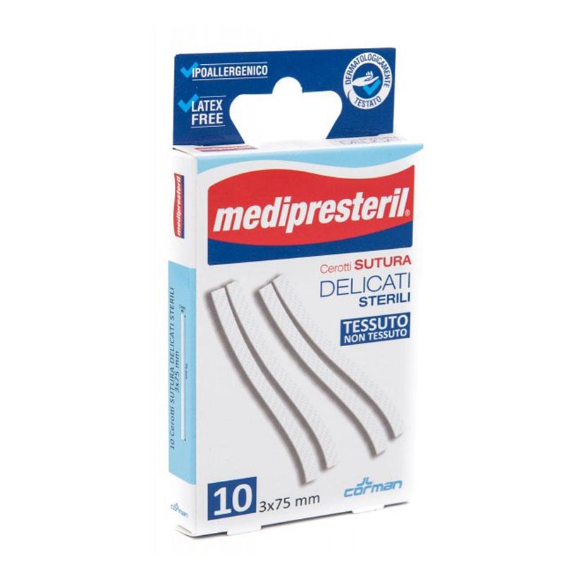 Cerotti sutura delicati sterili tessuto non tessuto 10 pezzi