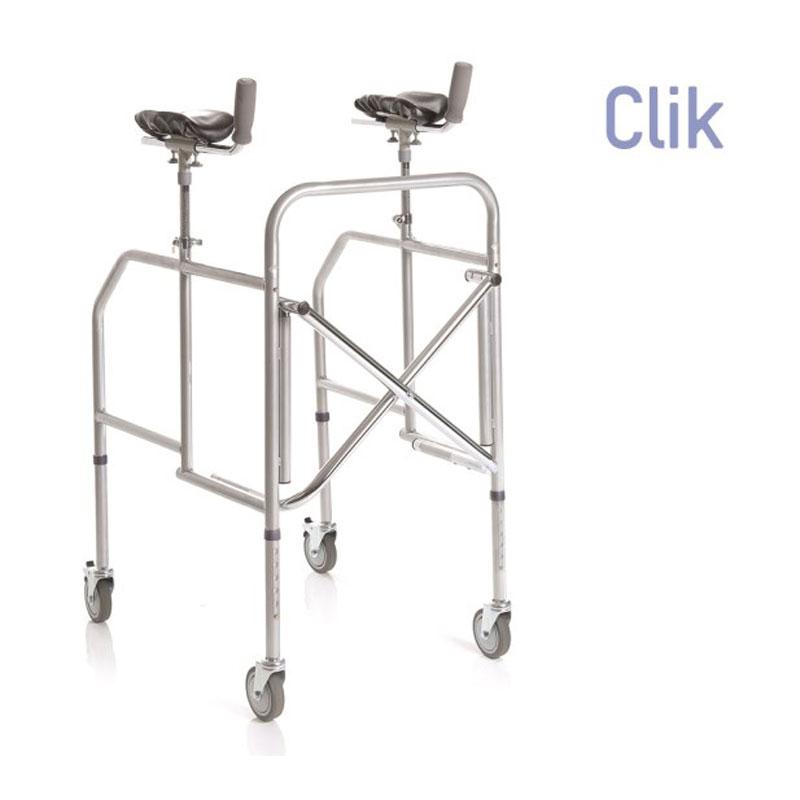 Deambulatore pieghevole con appoggio antibrachiale in acciaio verniciato - gambe regolabili in altezza