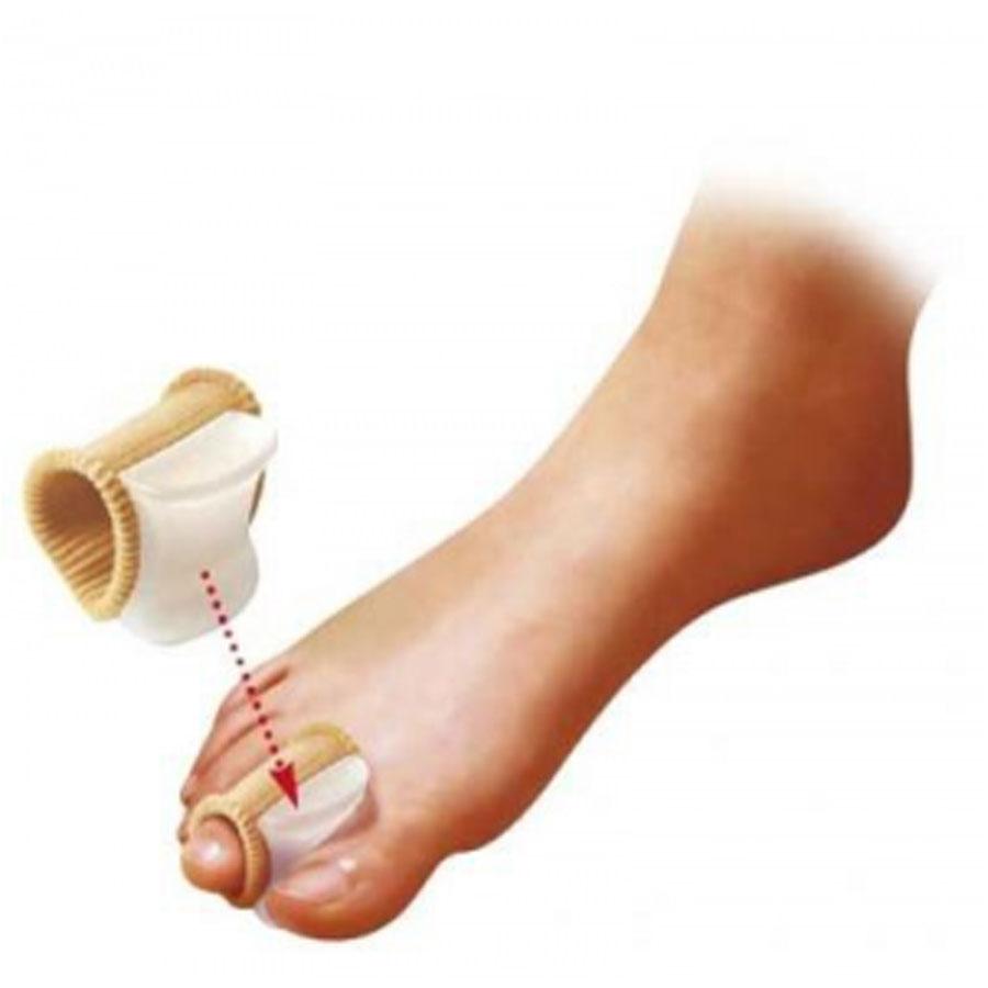 EUMEDICA Gel bunion toe spreader w/ribbed fabric divaricatore con base di tessuto elastico