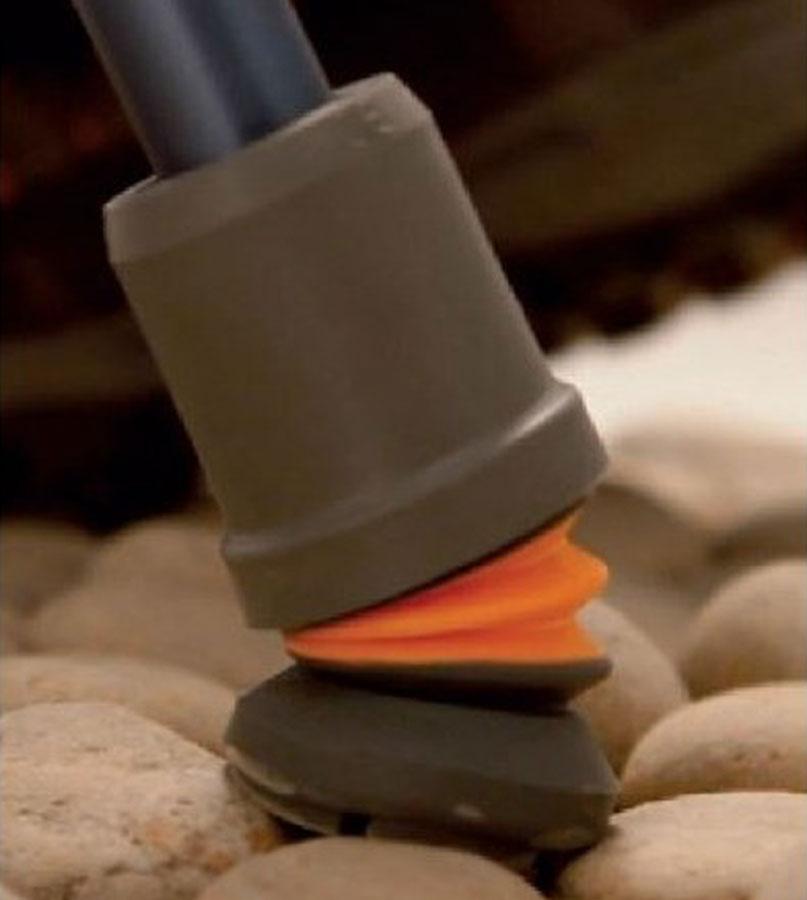 Flexy foot Puntale ammortizzato snodabile per stampelle e bastoni