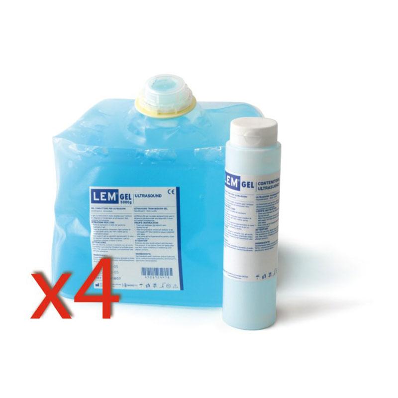Gel per Ultrasuoni - 4 Confezioni da 5 Kg + dispenser da 260 g