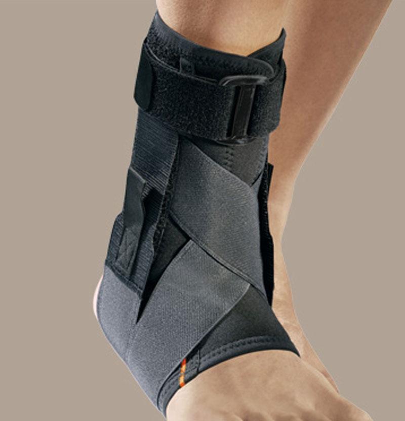 MALLEOFIT81 cavigliera in tessuto airX con tiranti elastici ad 8 stecche a spirale