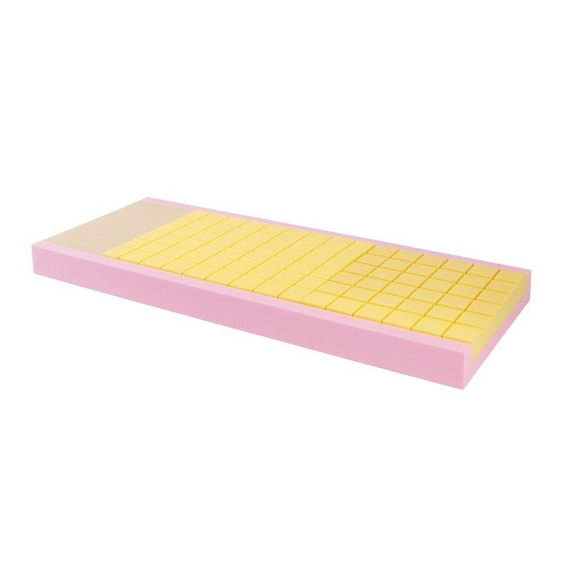 Materasso in poliuretano espanso composito sezione unica - scacchi differenziati