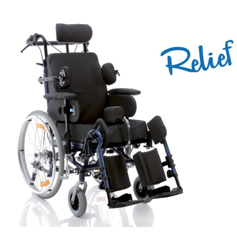 Poltrona polifunzionale assistita - ruote posteriori 60cm - Serie RELIEF