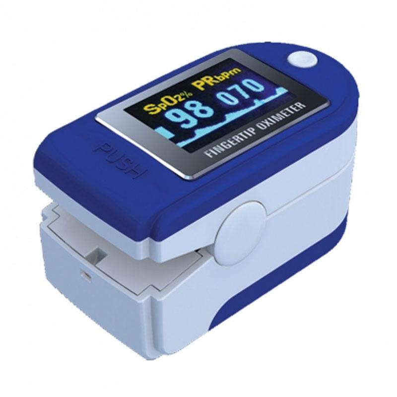Pulsossimetro portatile da dito con display orientabile a colori con indice di perfusione