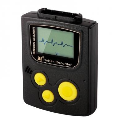 Registratore Holter ECG a 3 canali, con display – cavo a 5 derivazioni. Registrazione continua del tracciato per 7 giorni