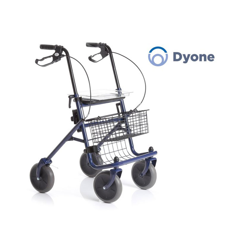 Rollator pieghevole in acciao verniciato - 4 ruote - Dyone
