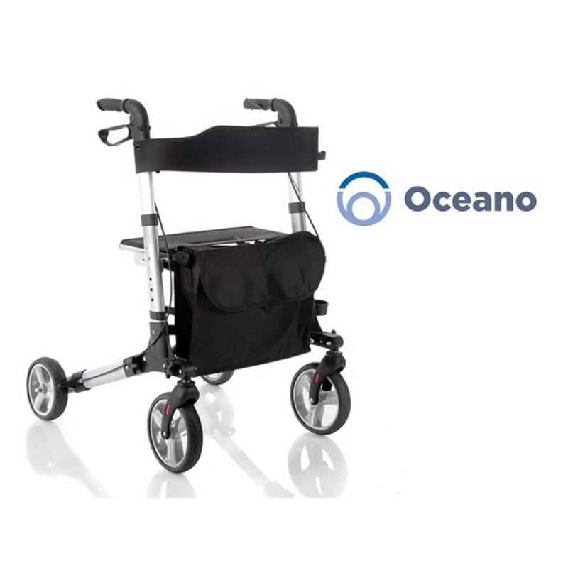 Rollator Pieghevole In Alluminio Verniciato - 4 Ruote - Oceano