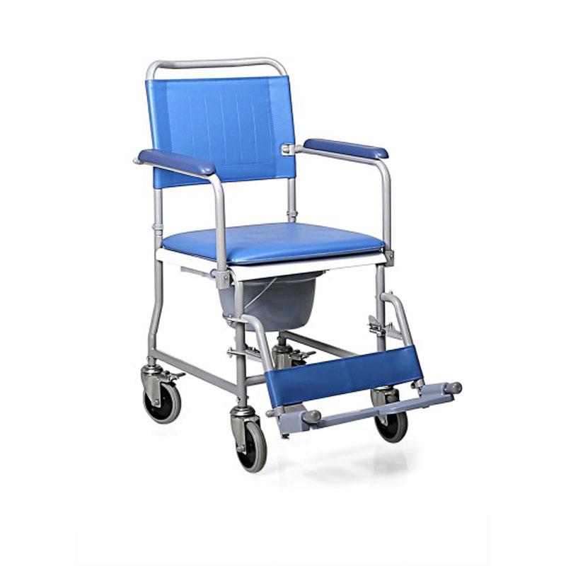 Sedia comoda in acciaio verniciato - Schienale smontabile - 4 ruote piroettanti