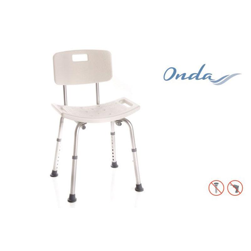 Sedile per doccia con schienale