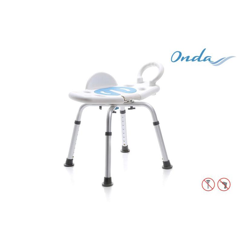 Sedile per doccia girevole - senza schienale