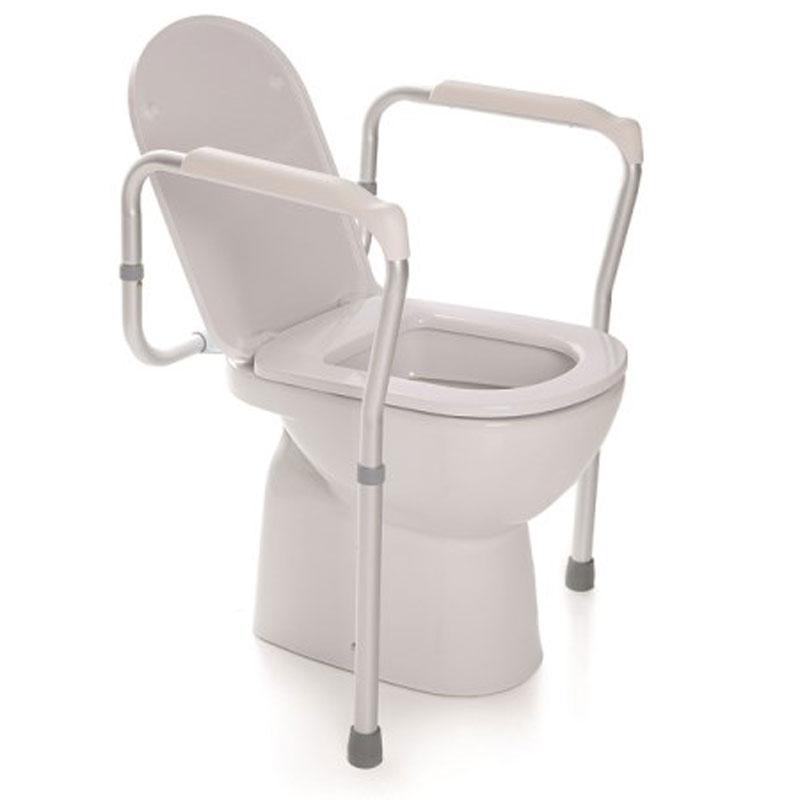 Sostegno per wc regolabile in altezza - alluminio anodizzato