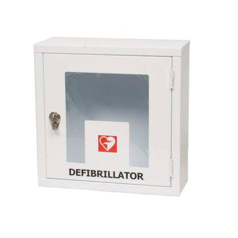 Teca per defibrillatore con allarme per interno